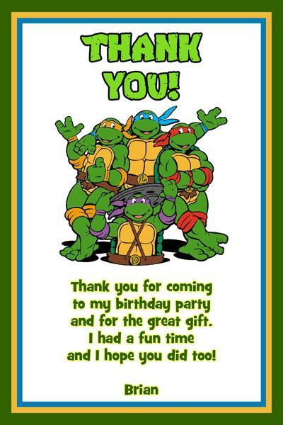 teenage mutant ninja turtles free printable thank you cards teenage mutant ninja turtles birthday invitations tmnt