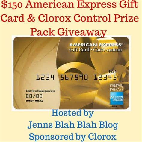 Gift Card American Express - 150 american express gc giveaway clorox prize pack