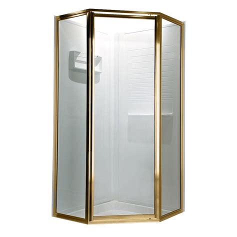 Gold Shower Doors American Standard Prestige 69 In X 68 1 2 In Neo Angle Shower Door In Gold With Clear Glass