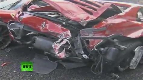 8 Ferrari Accident by Ferrari F50 Accident Smashing 8 Ferraris 2011 3 Million