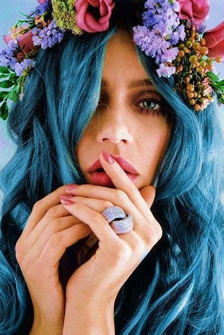 latest hair color trend dreamy blue hair pretty designs