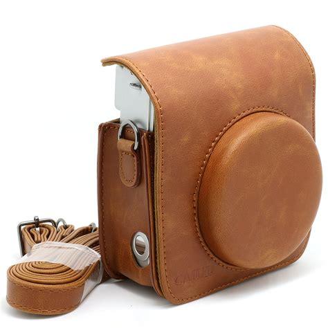 Best Seller Fujifilm Kamera Instax Mini 9 Leather Bag Tas retro pu leather shoulder bag for fuji