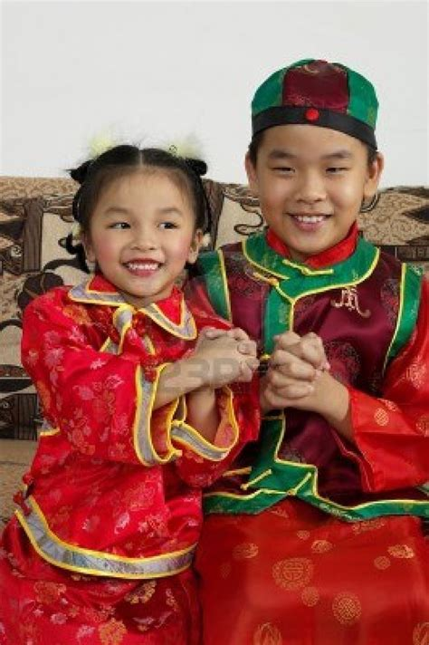 chinese new year traditional clothes children of the