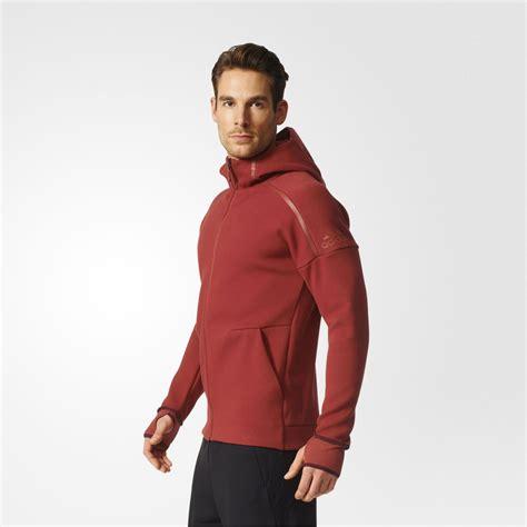 adidas zne hoodie adidas zne mens red hoody long sleeve full zip hoodie