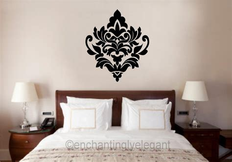 wall decals bedroom master damask embellishment vinyl decal wall sticker master