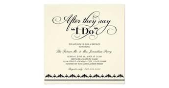 after wedding brunch invitation day after wedding brunch invitation wedding vows zazzle