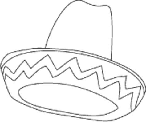sombrero coloring page printable coloring pages