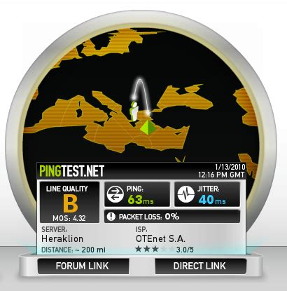 ping test net determine the quality of your broadband