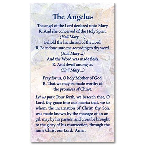 The Angelus Prayer Printable the angelus prayer card
