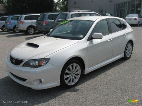 white subaru wagon satin white pearl 2008 subaru impreza wrx wagon exterior