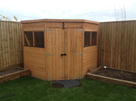 Corner Shed Corner Sheds What A Great Idea George Gardens