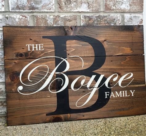 wood sign rustic home decor initial monogram last personalized monogram wood sign personalized sign by