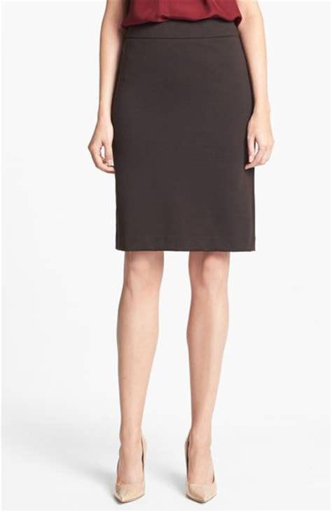 Jones New York Ponte Knit Pencil Skirt In Brown