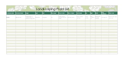 format excel landscape home maintenance schedule and task list office templates