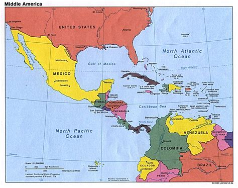map of mexico central america 1994 in central america