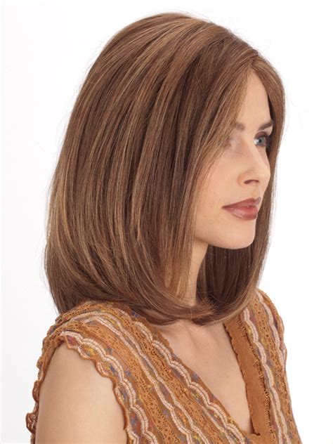 images of sjoulder length hair frony and back plf 002hm by louis ferre color marble brown frosted