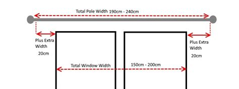 how to measure curtain pole width 28mm wood curtain poles