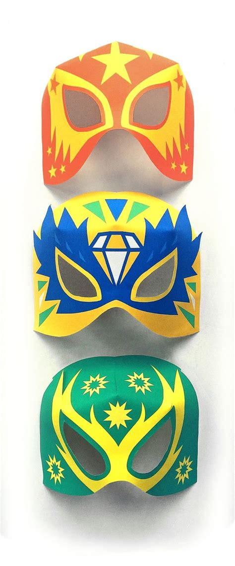 printable luchador masks pinterest the world s catalog of ideas