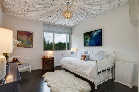 drape fabric from ceiling bedroom 21 cool ceiling designs that turn kids bedrooms into