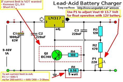 lm317 lead acid battery charger circuit transistors automatic led emergency l circuit with
