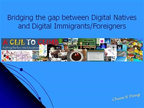 Bridging The Gap Between Digital Natives And Immigrants Foreigners Authorstream Bridging The Gap Powerpoint Template