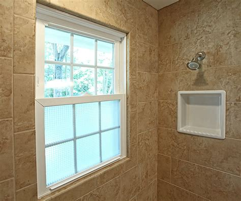 bathroom showers with windows 1000 images about rental bathroom on window