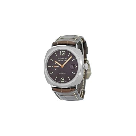 Panerai 8 Days Brown Yellow panerai radiomir 8 days pam00346 pam 346 titanium