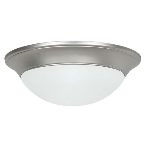 feiss devonshire 2 light satin nickel flush mount fm422sn
