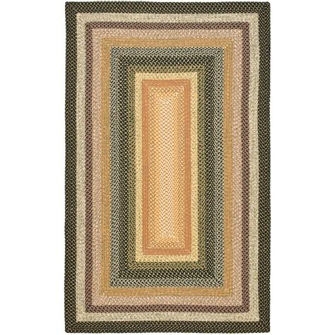 8 X 8 Area Rugs Safavieh Braided Blue Multi 8 Ft X 10 Ft Area Rug Brd308a 8 The Home Depot