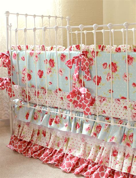 shabby chic crib bedding lulu s rose petal shabby chic baby bedding lottie da