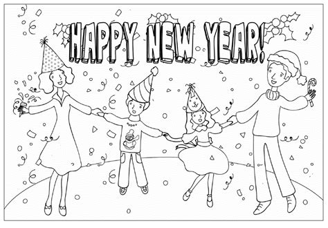 why is the new year color happy new year celebration coloring pages