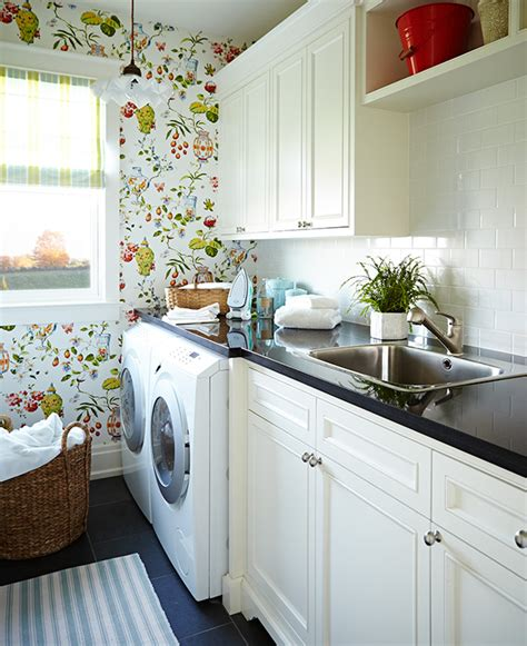Sarah Richardson Farmhouse Laundry   a new england style house by sarah richardson design