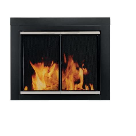 pleasant hearth fireplace glass door for unique living room