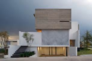 L Shaped House With Garage Interesting House Facade For Modern Mexico Design