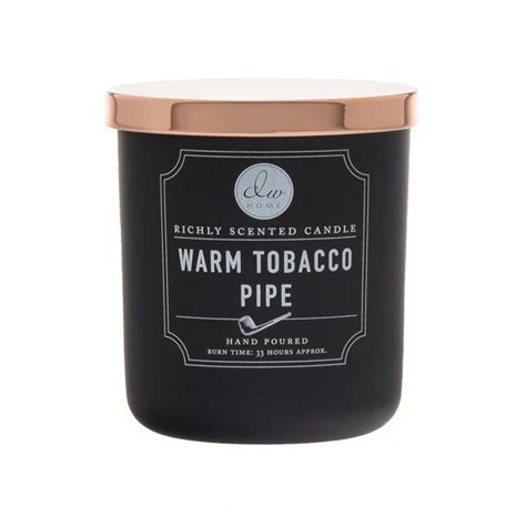 warm tobacco pipe rose gold dw home candles