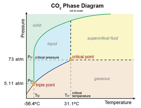 consider this phase diagram for carbon dioxide chemistry