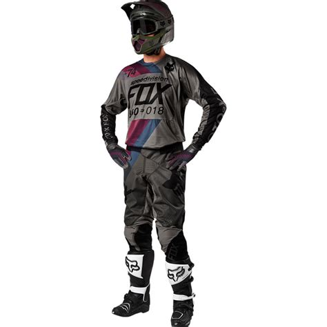 fox motocross suit 2018 fox racing 360 draftr gear kit charcoal sixstar racing