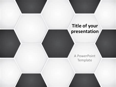 Football Soccer Ball Powerpoint Template Soccer Template