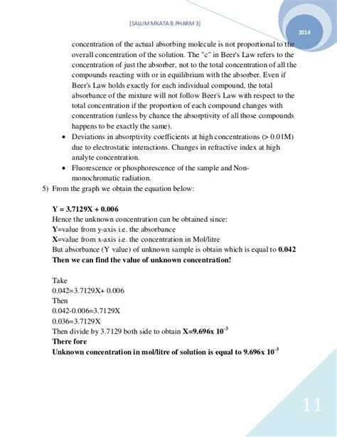 spectrophotometer lab report sle spectrophotometer lab report results exle