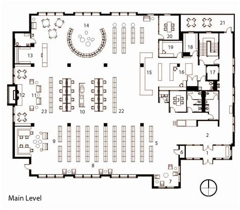 floor plan of a library library floor plans