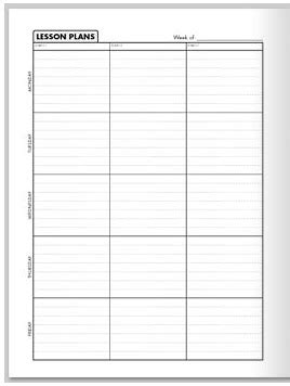 printable lesson plan book daily lesson plan formats new calendar template site
