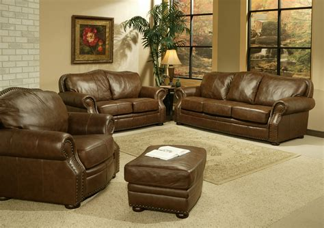 leather living rooms sets vig