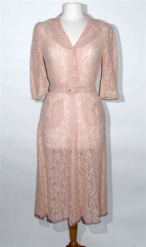 pink lace dress help with date and what is it