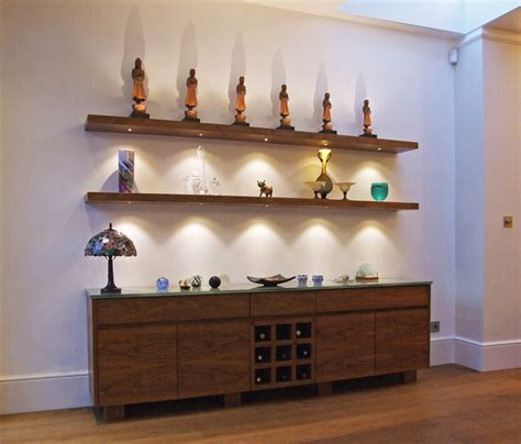 wall shelves with lights floating wall shelf with lights