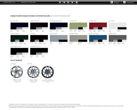 range rover colour chart 28 land rover paint chart color sportprojections