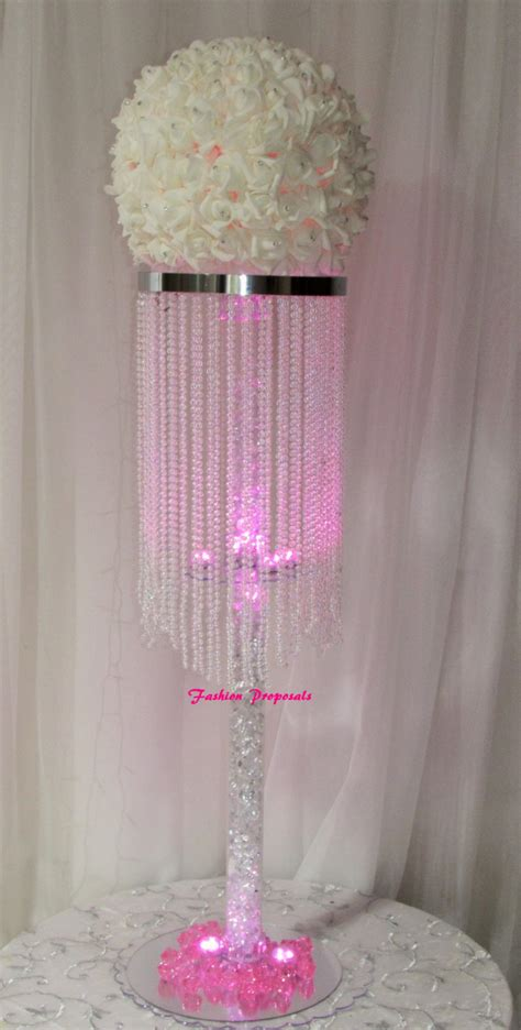 wedding centerpieces chandelier 10 table top chandelier wedding centerpiece 1 by fashionproposals