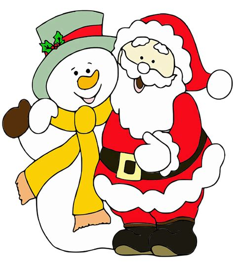clipart animate gratis free illustration santa claus snowman free image on