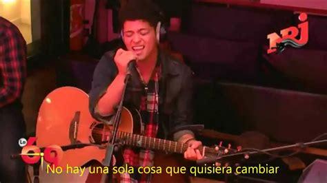 bruno mars just the way you are subtitulado en espa 241 ol bruno mars just the way you are live subtitulado en