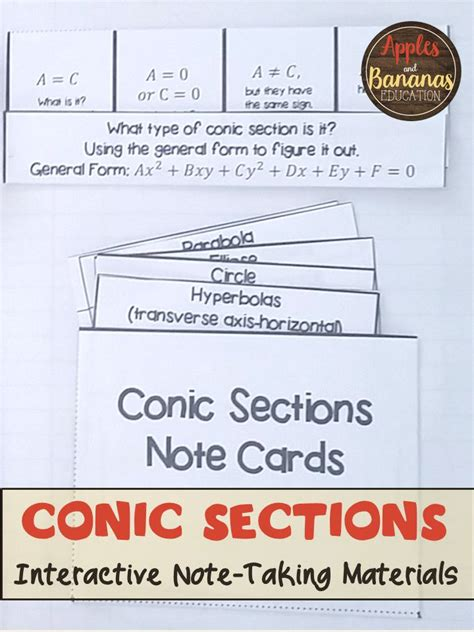 Summary Of Conic Sections by 1000 Ideas About Conic Section On Algebra 2