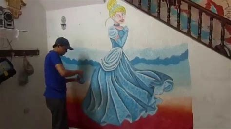 free cinderella painting how to paint cinderella speed wall painting